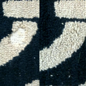 Repaired Tufted Hook Rug